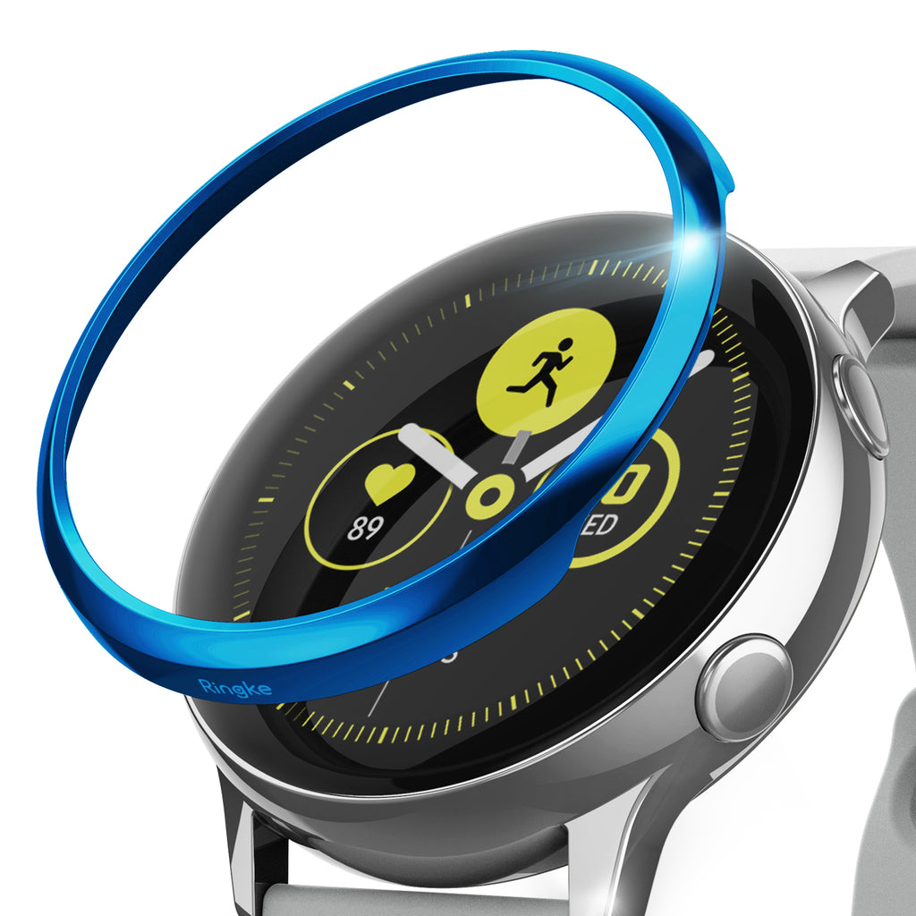 ringke bezel styling for galaxy watch active 04 glossy blue