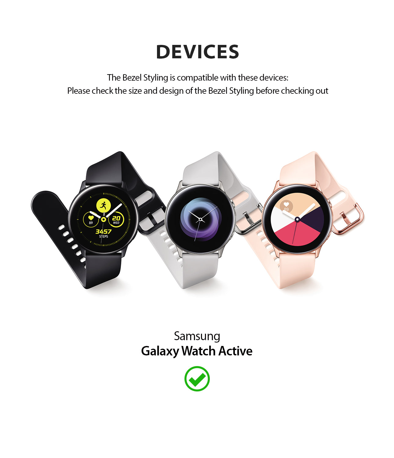only compatible with samsung galaxy watch active