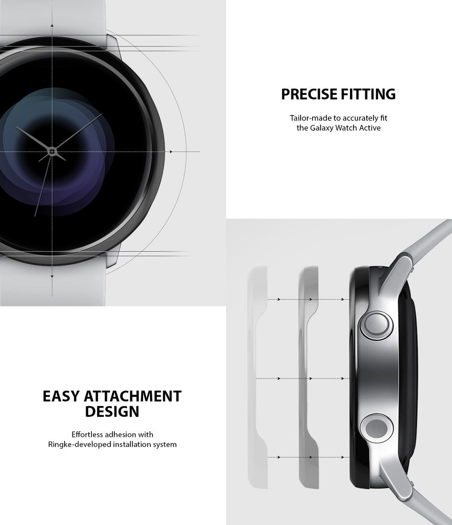 ringke bezel styling for galaxy watch active precise fitting on the existing bezel and easy attachment design