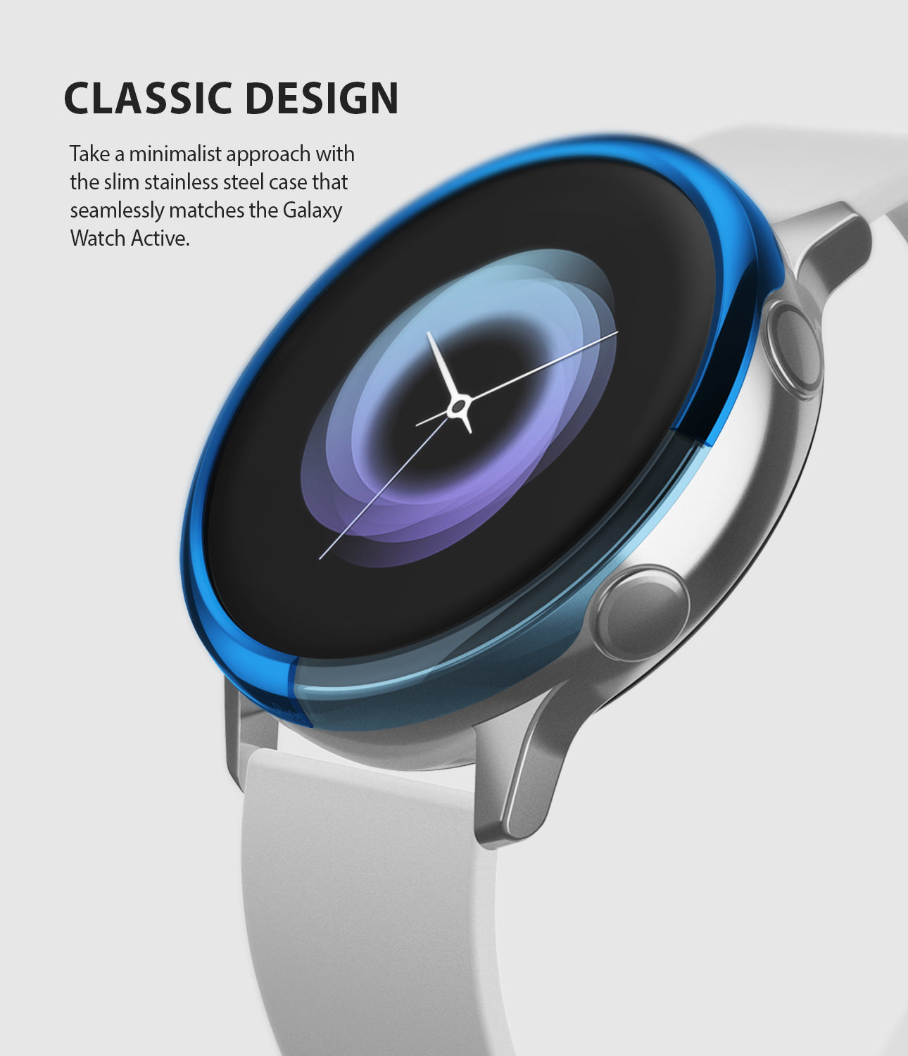 ringke bezel styling for galaxy watch active stainless steel minimalistic design to seamlessly match the device