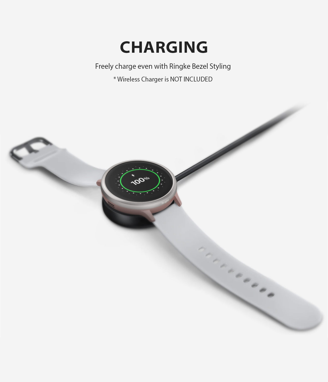 ringke bezel styling for galaxy watch active 2 40mm made with high quality stainless steel wireless charging compatible