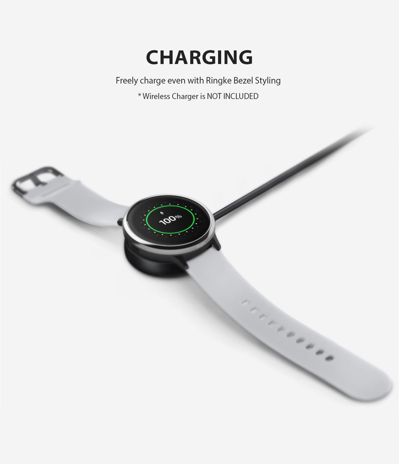 ringke bezel styling for galaxy watch active 2 44mm stainless steel compatible with wireless charging