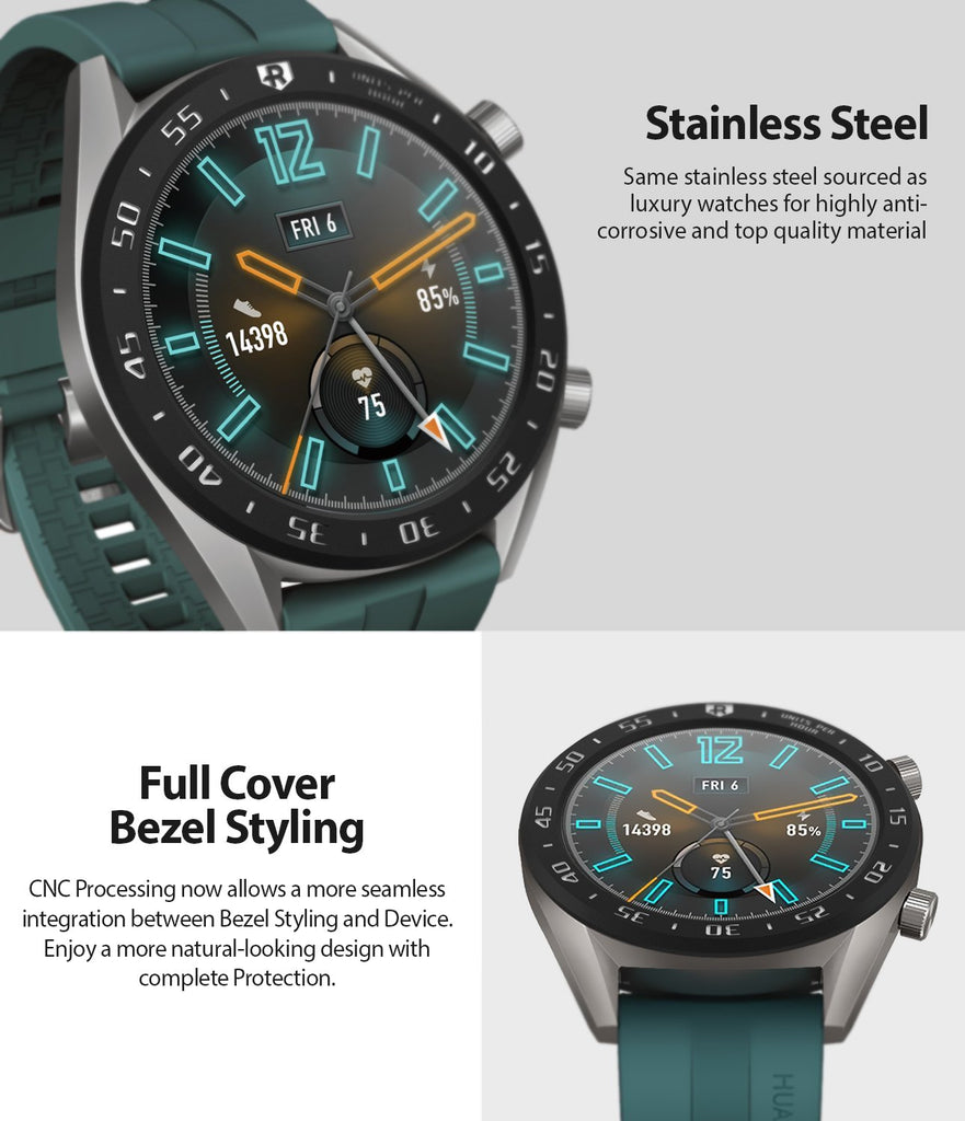 Ringke Bezel Styling for Huawei Watch GT 46mm 46-03 Black, stainless steel