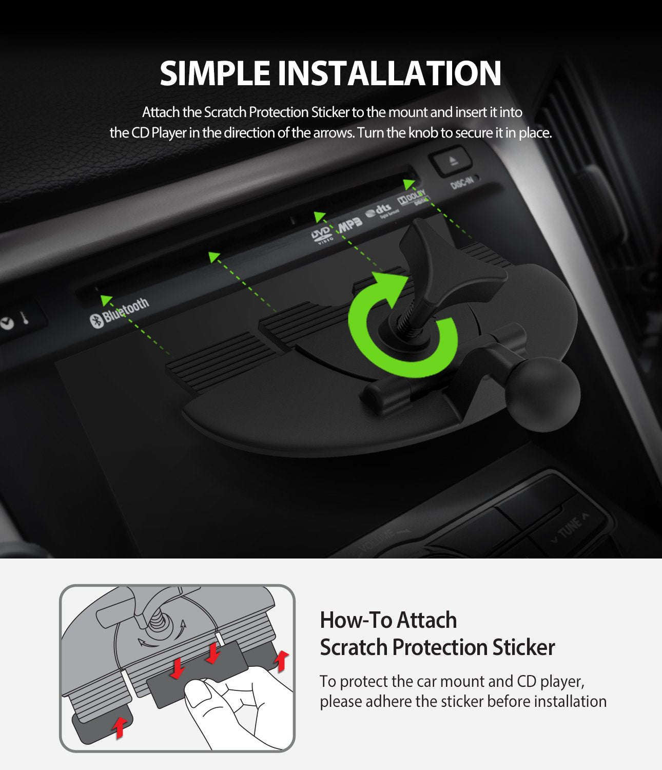 ringke cd slot 2 in 1 car mount simple and easy installation