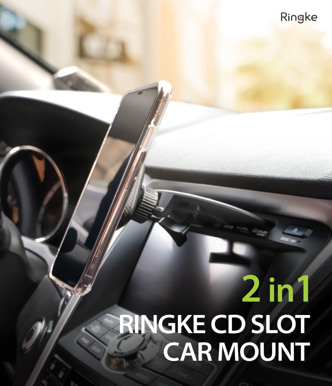 ringke cd slot 2 in 1 car mount