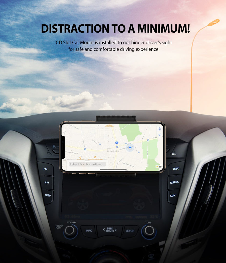 ringke cd slot 2 in 1 car mount minimum vision blockage