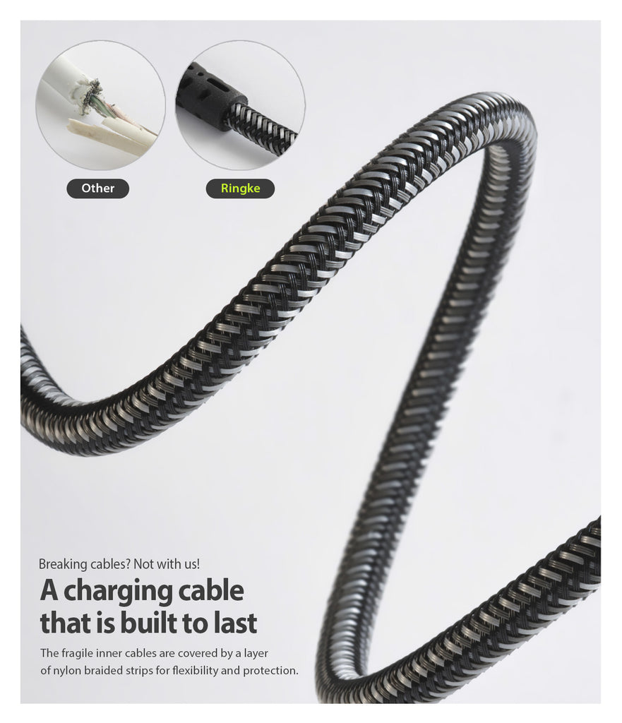 built to last with a layer of nylon braided strips for flexibility and protection