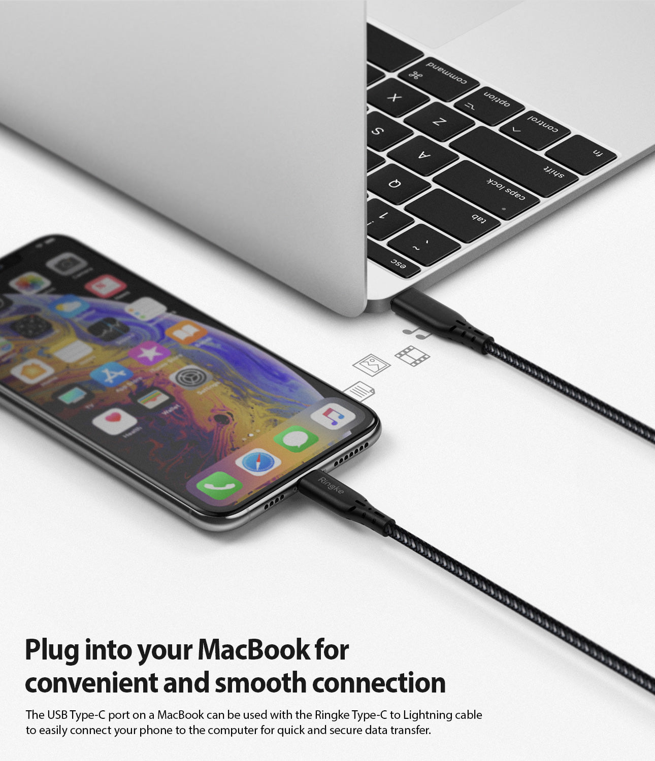 plug into your macbook for convenient and smooth connection