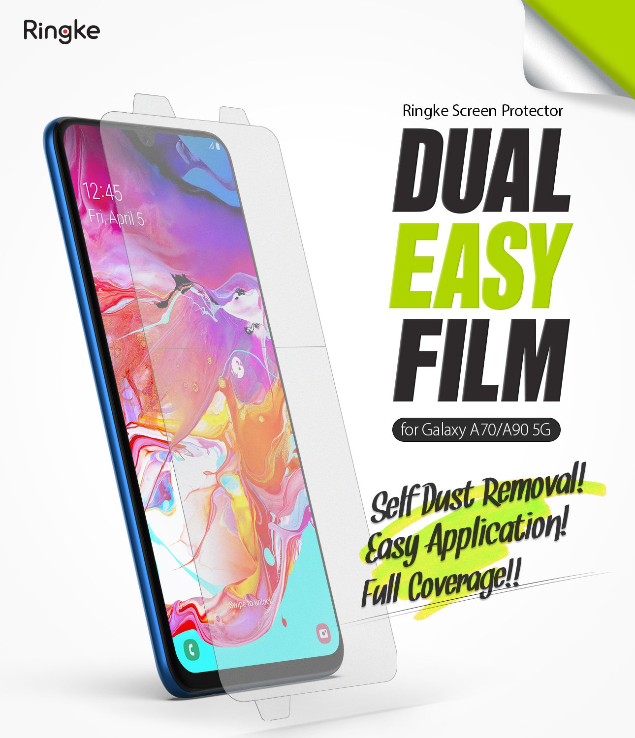 Ringke Galaxy A70 Dual Easy Screen Protector