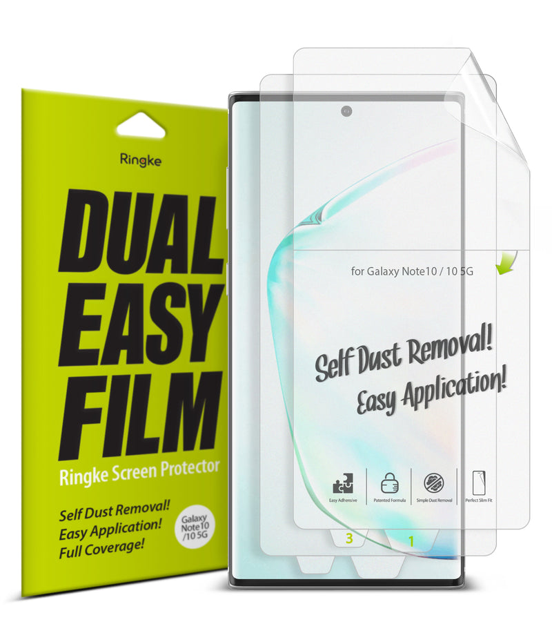 Galaxy Note 10 [Dual Easy Full Cover] Screen Protector [2 Pack]