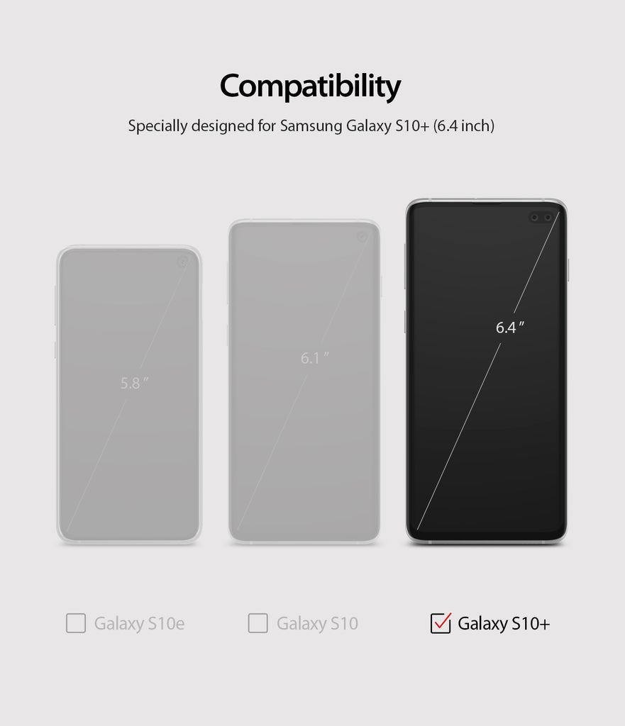 only compatible with galaxy s10 plus