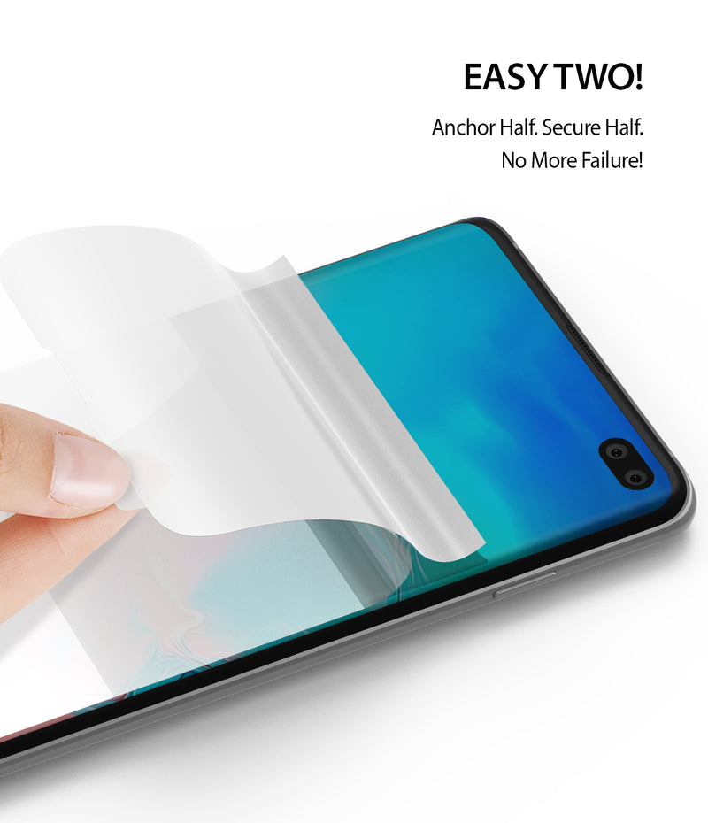 Galaxy S10 Plus [Dual Easy Full Cover] Screen Protector [2 Pack]