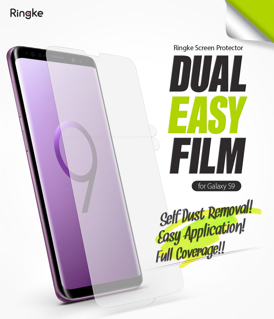 galaxy s9 dual easy full cover screen protector 2 pack