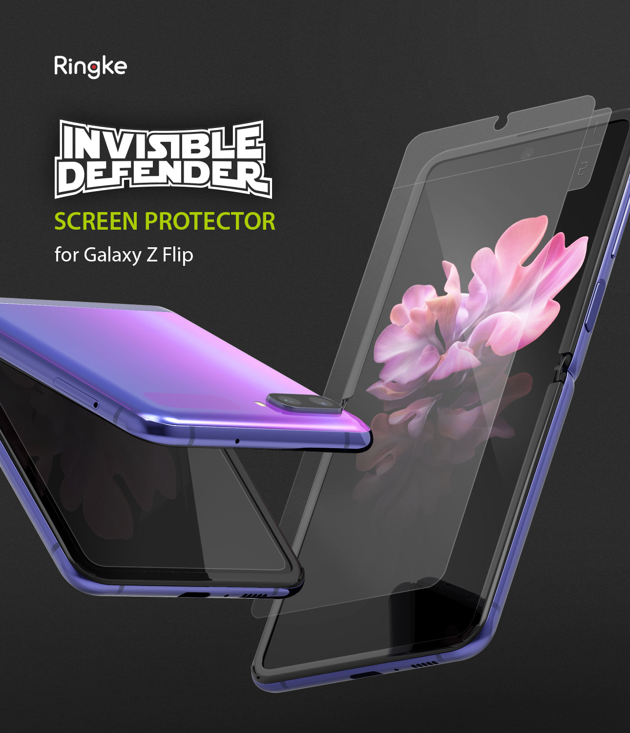 ringke invisible defender for samsung galaxy z flip