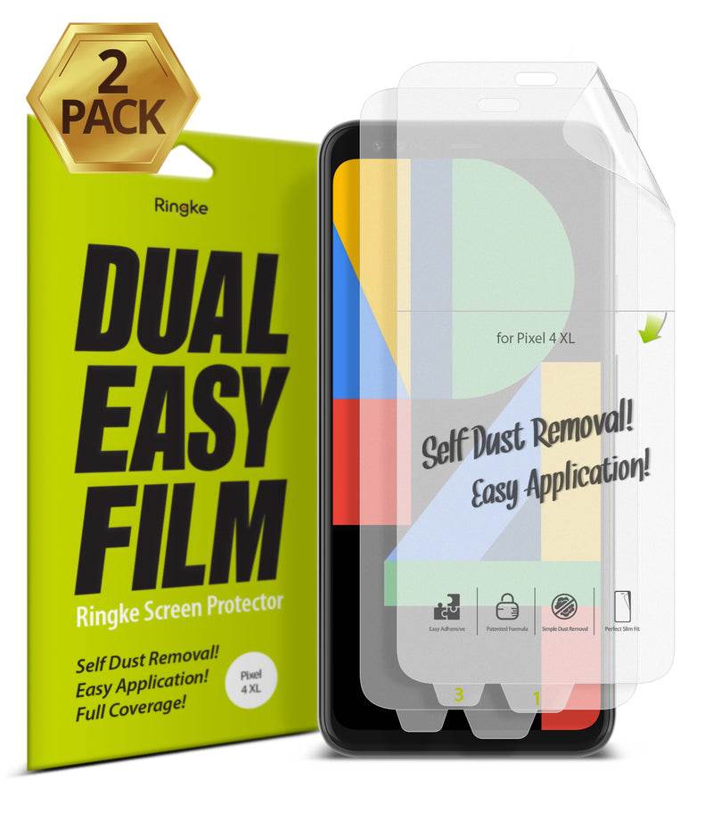 Google Pixel 4 XL [Dual Easy Film] [2 Pack]
