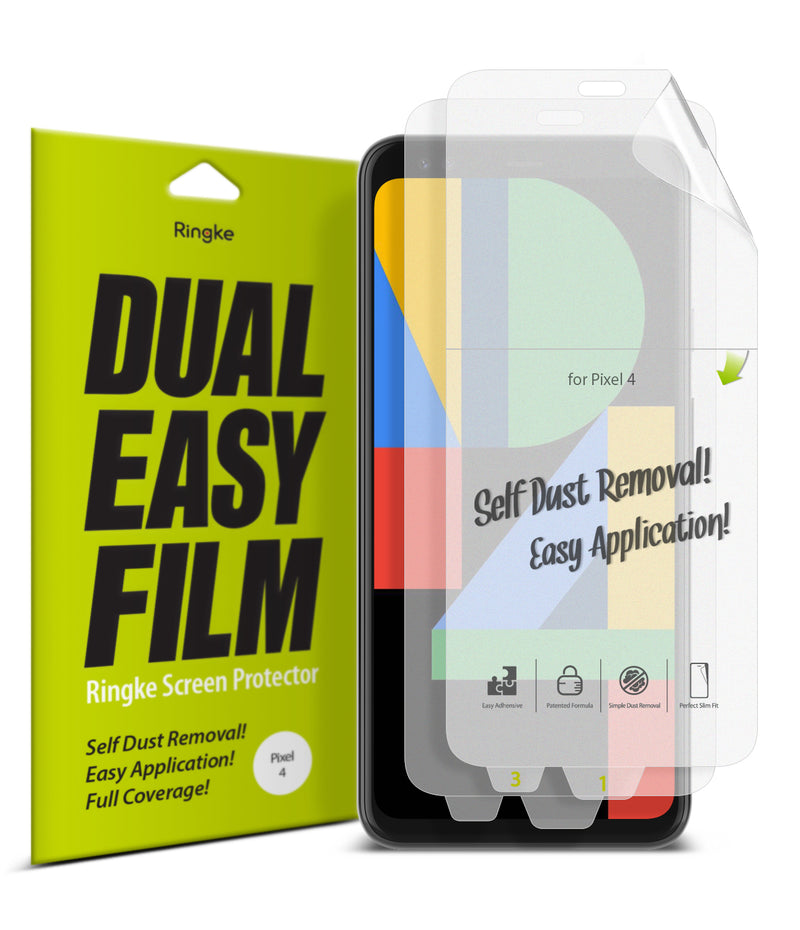 Google Pixel 4 [Dual Easy Full Cover] Screen Protector [2 Pack]