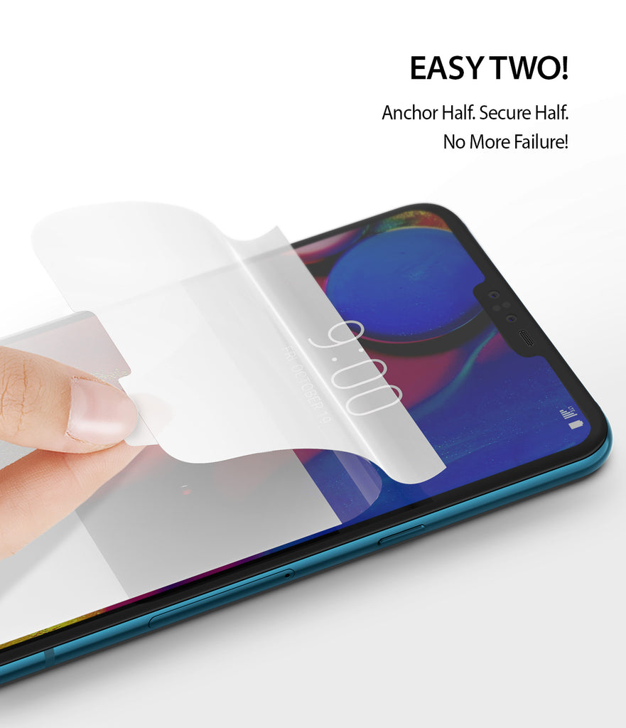 lg v40 thinq screen protector ringke dual easy film