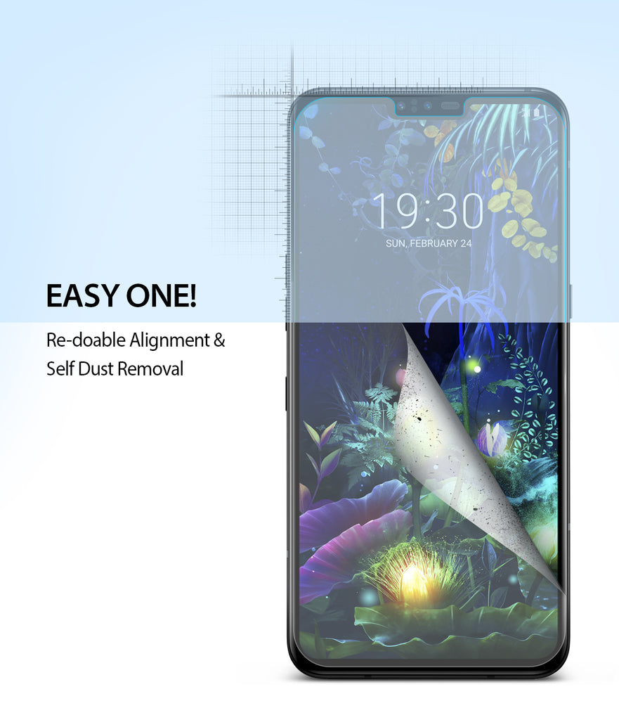 LG V50 [Dual Easy Full Cover] Screen Protector [2 Pack]