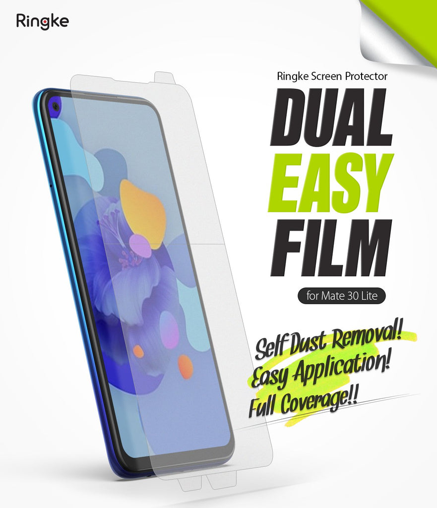 Huawei Mate 30 Lite [Dual Easy Full Cover] Screen Protector [2 Pack]