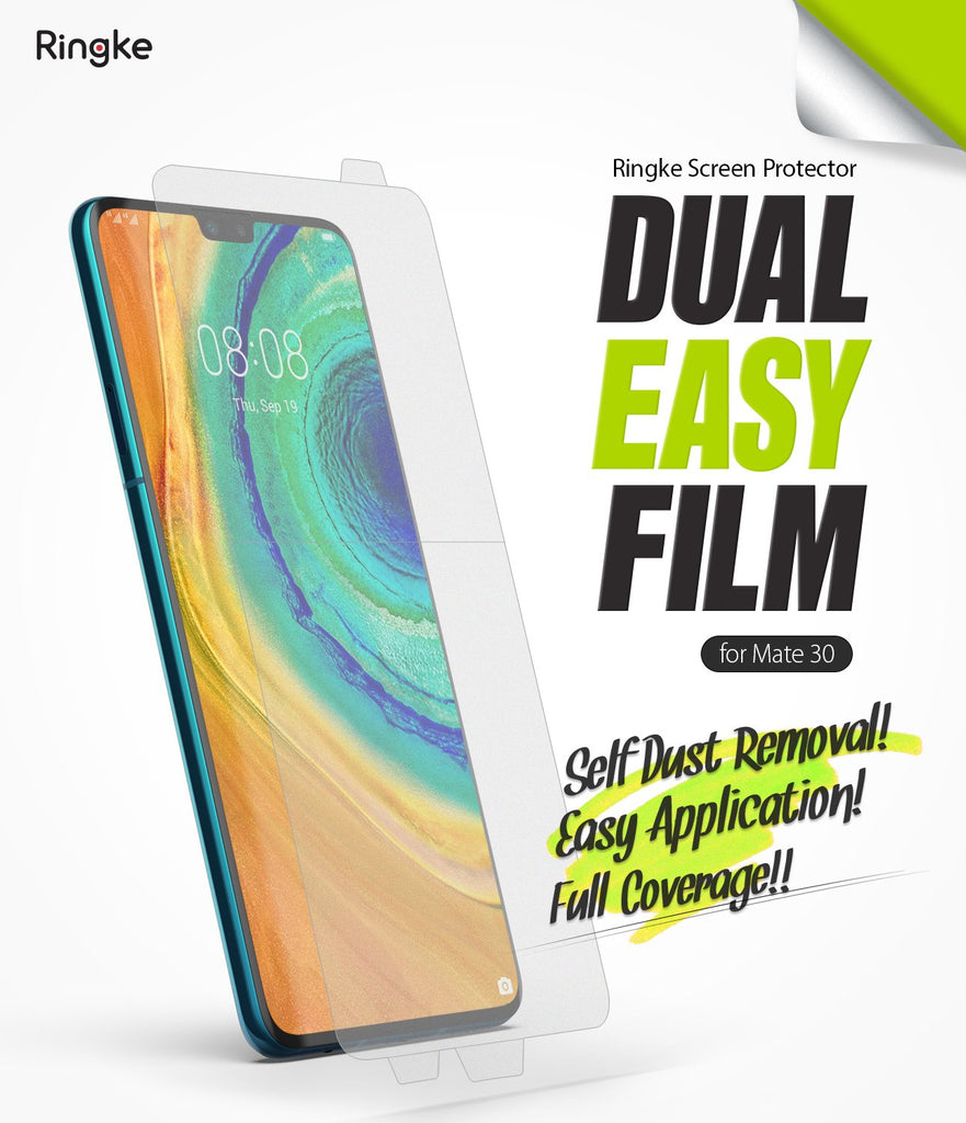 Huawei Mate 30 [Dual Easy Full Cover] Screen Protector [2 Pack]