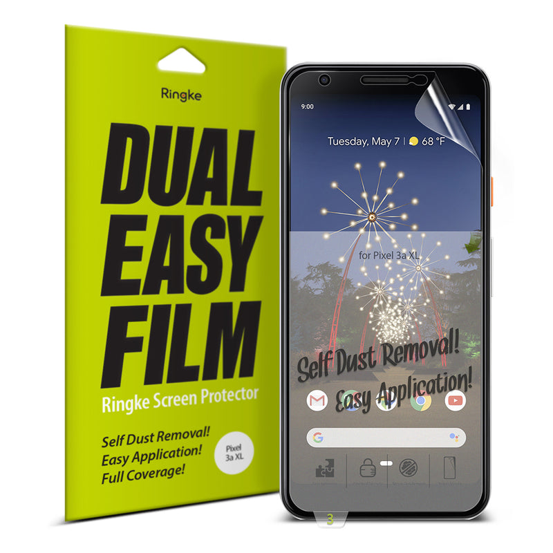 Ringke Dual Easy Film [2 Pack] Designed for Google Pixel 3a XL Screen Protector