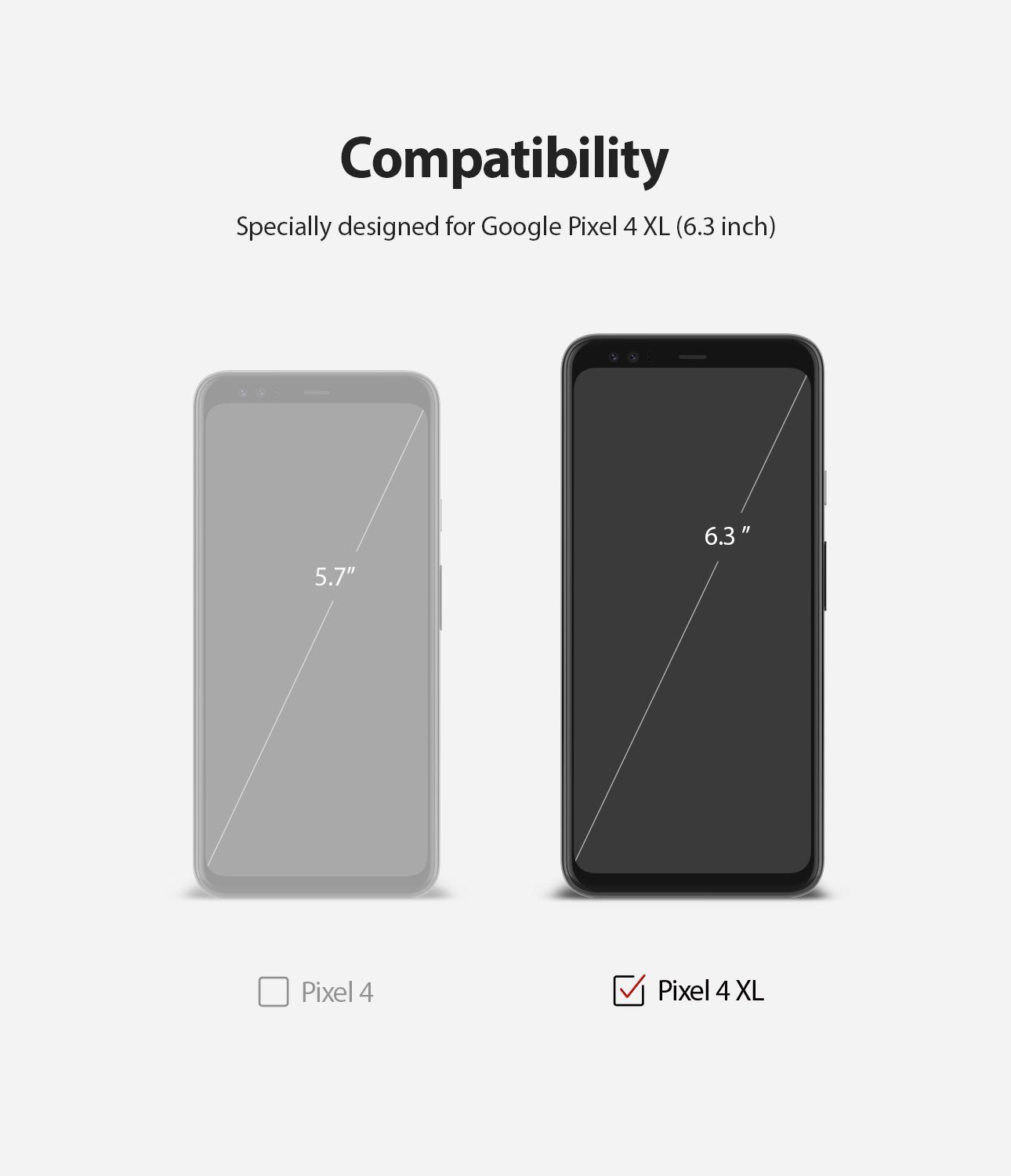 Google Pixel 4 XL, Ringke Dual Easy Film, Screen Protector, Compatibility