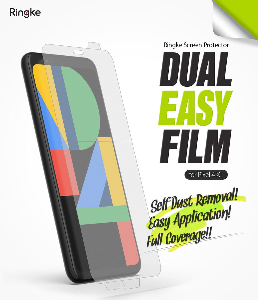 Google Pixel 4 XL, Ringke Dual Easy Film, Screen Protector