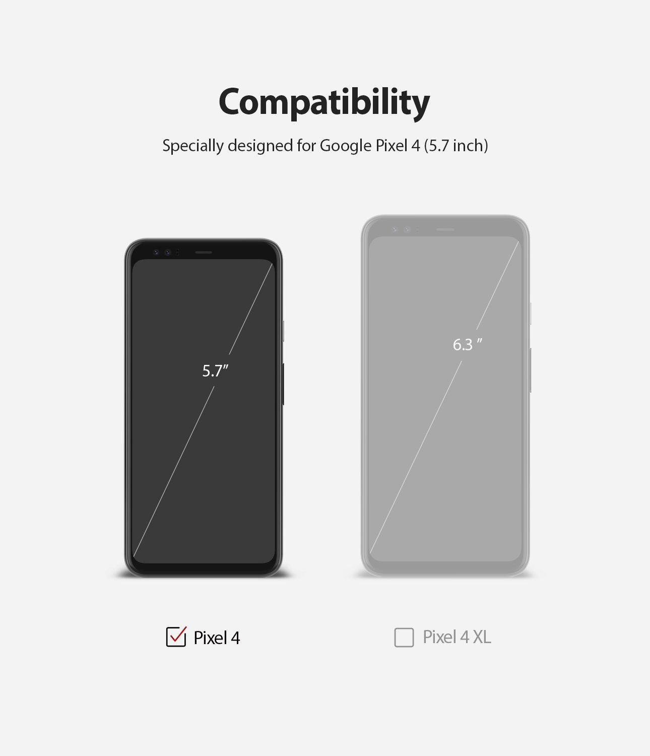 Ringke Google Pixel 4 Screen Protector, Dual Easy Film, Compatibility