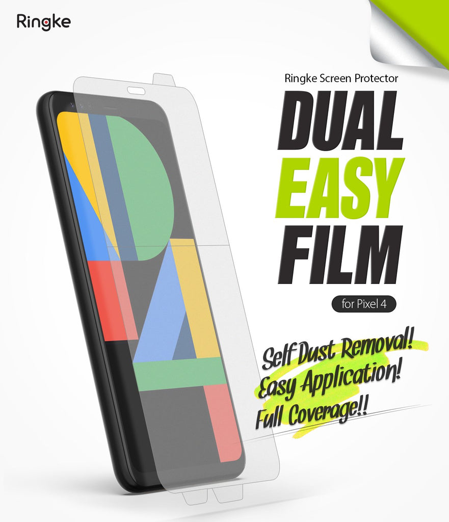 Ringke Google Pixel 4 Screen Protector, Dual Easy Film
