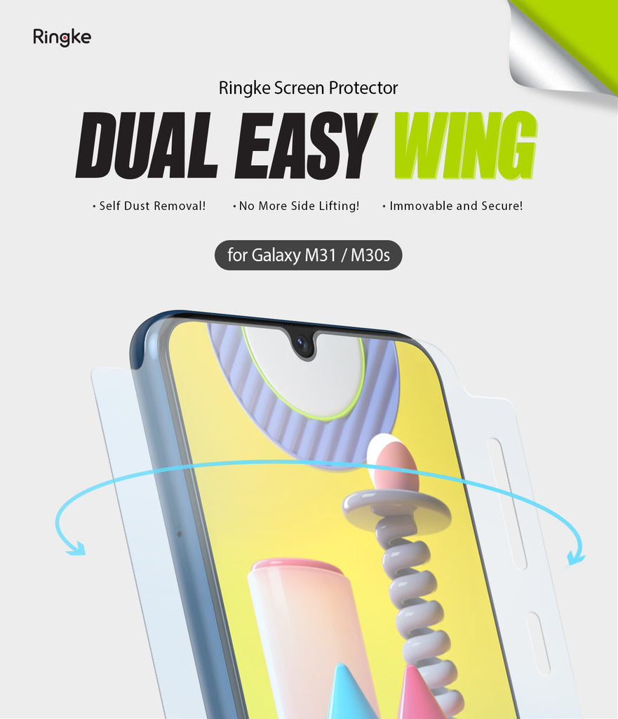 ringke dual easy film wing for galaxy m30s