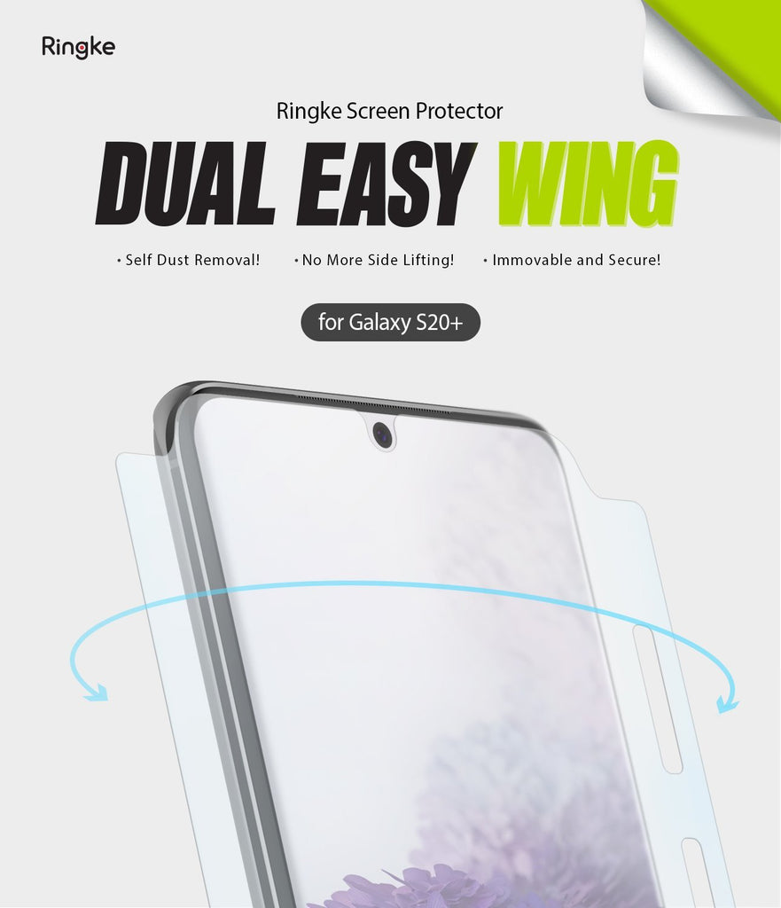 Galaxy S20 Plus ringke Dual Easy Film Wing Screen Protector 2 pack