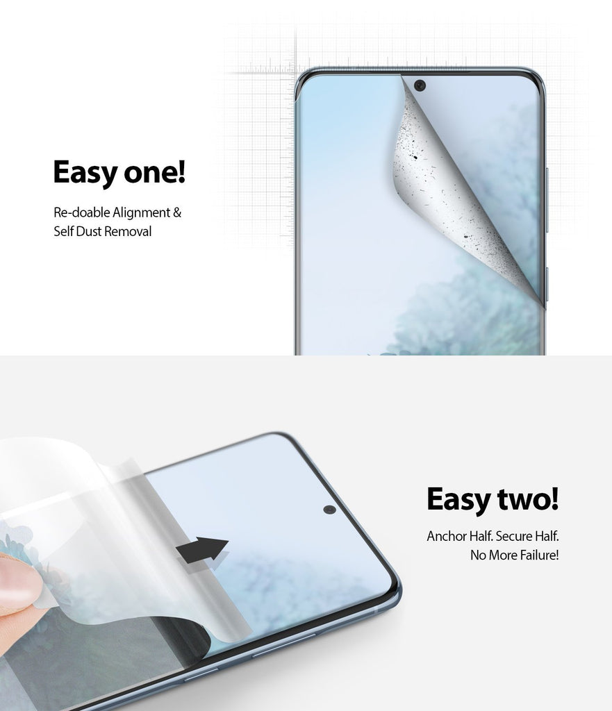 Galaxy S20 Screen Protector Dual Easy Film Wing, 2 pack, easy installation