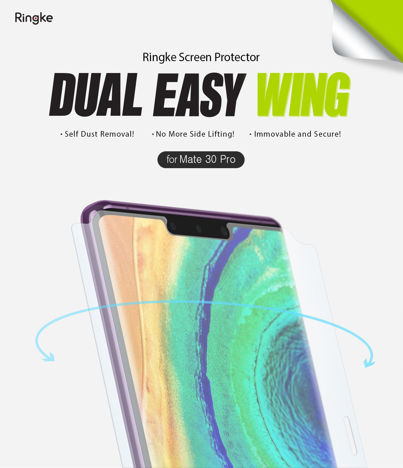 Huawei Mate 30 Pro Screen Protector | Dual Easy Film