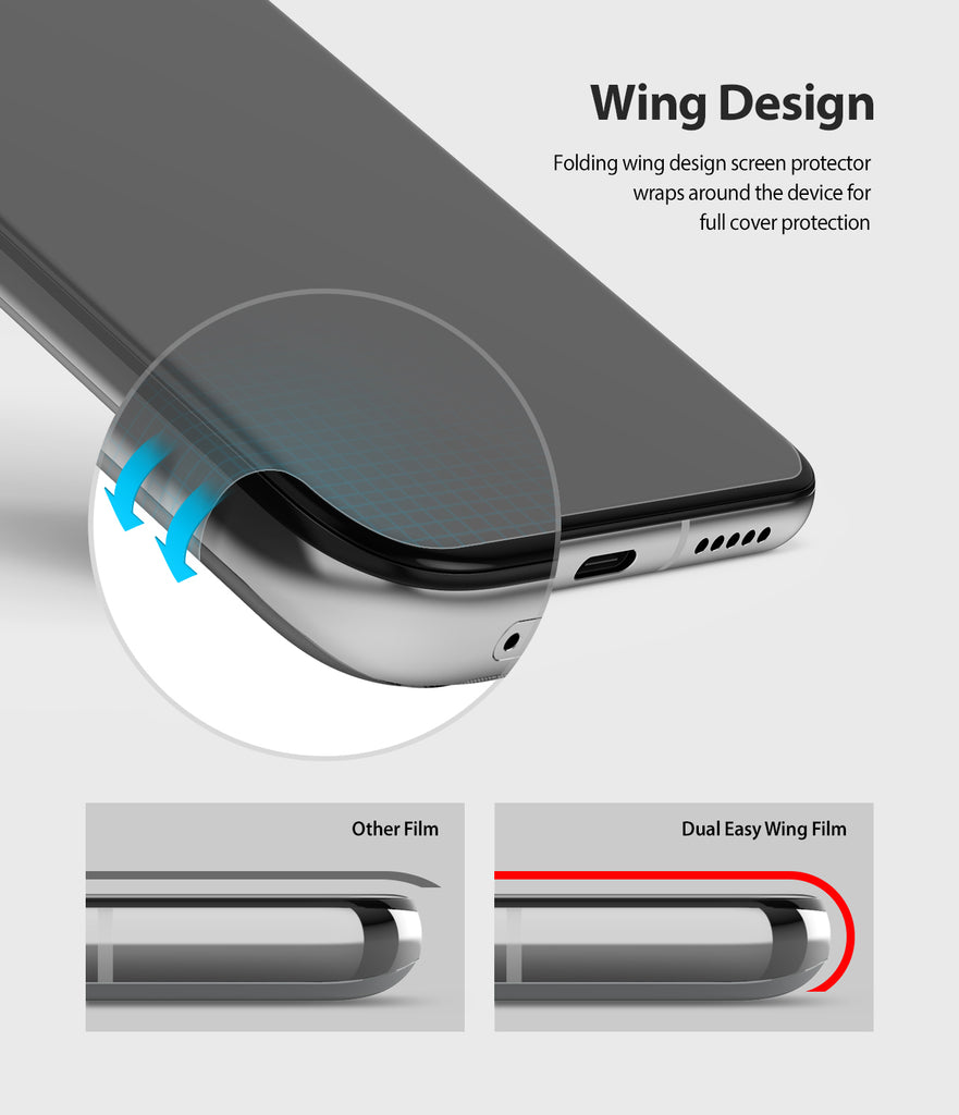 wing design wraps around the device for full cover protection