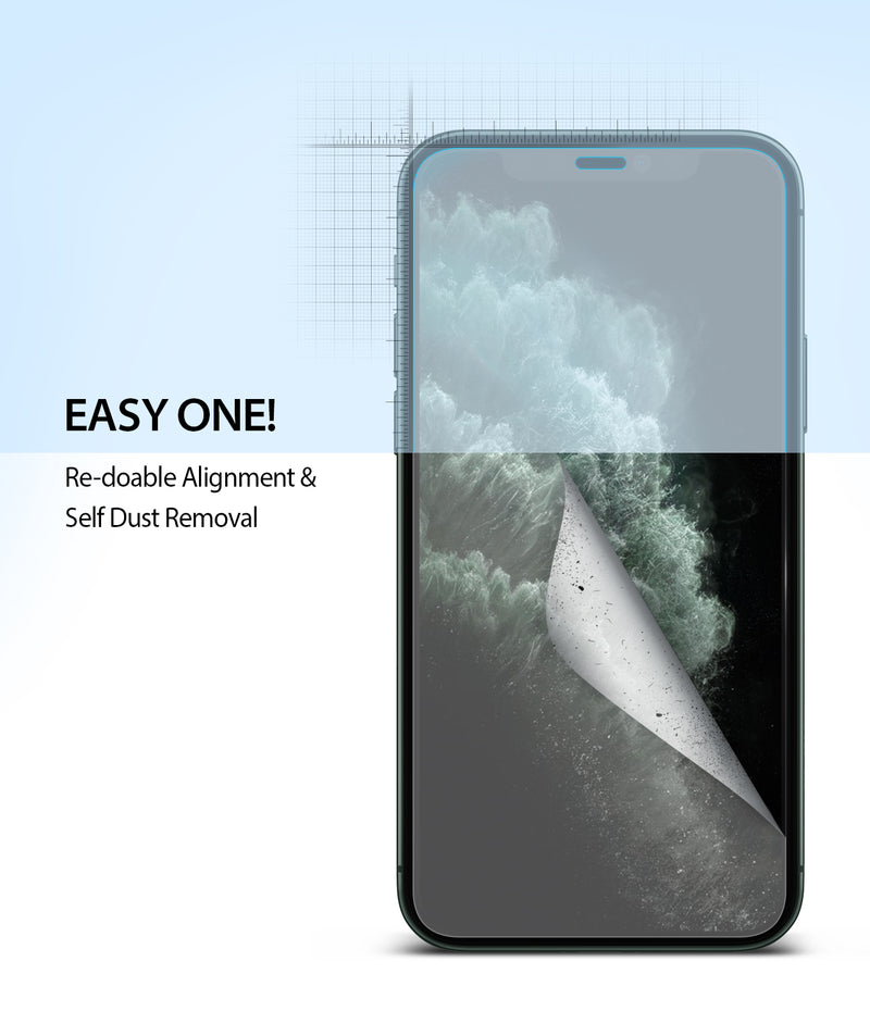 iPhone 11 Pro Max [Dual Easy Full Cover] Screen Protector [2 Pack]