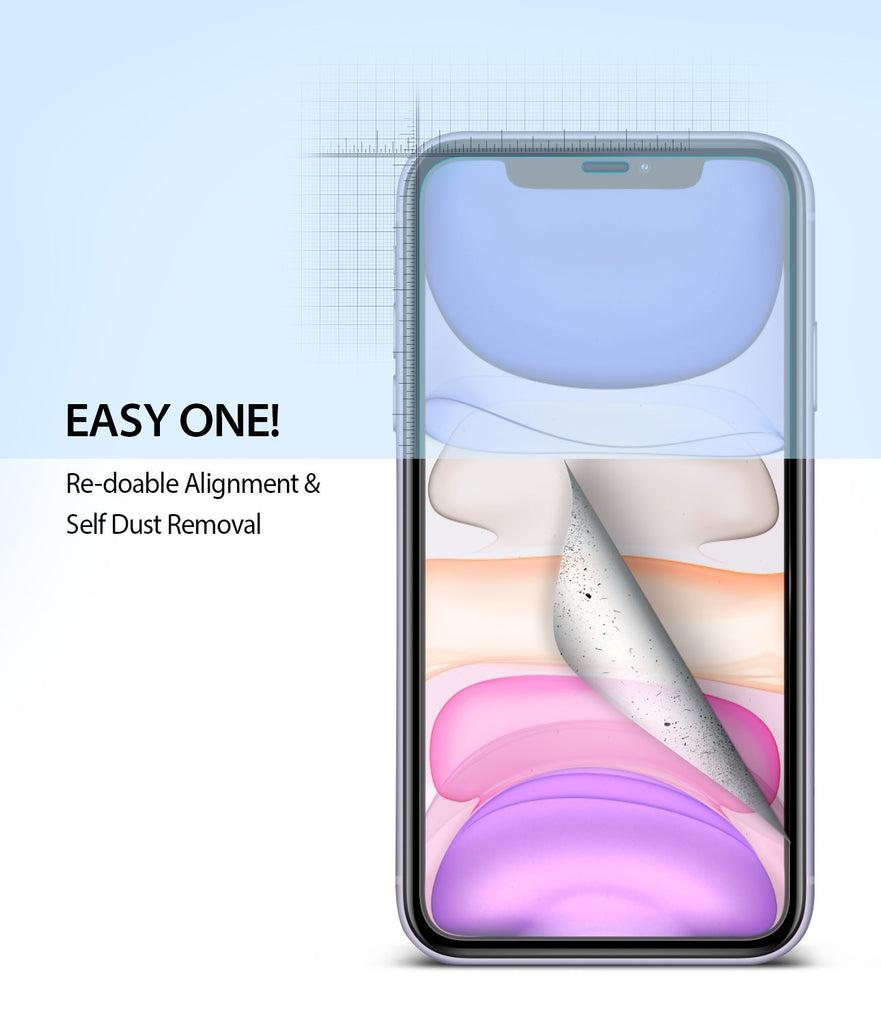Ringke Dual Easy Film Screen Protector for iPhone 11 Easy Installation Easy One
