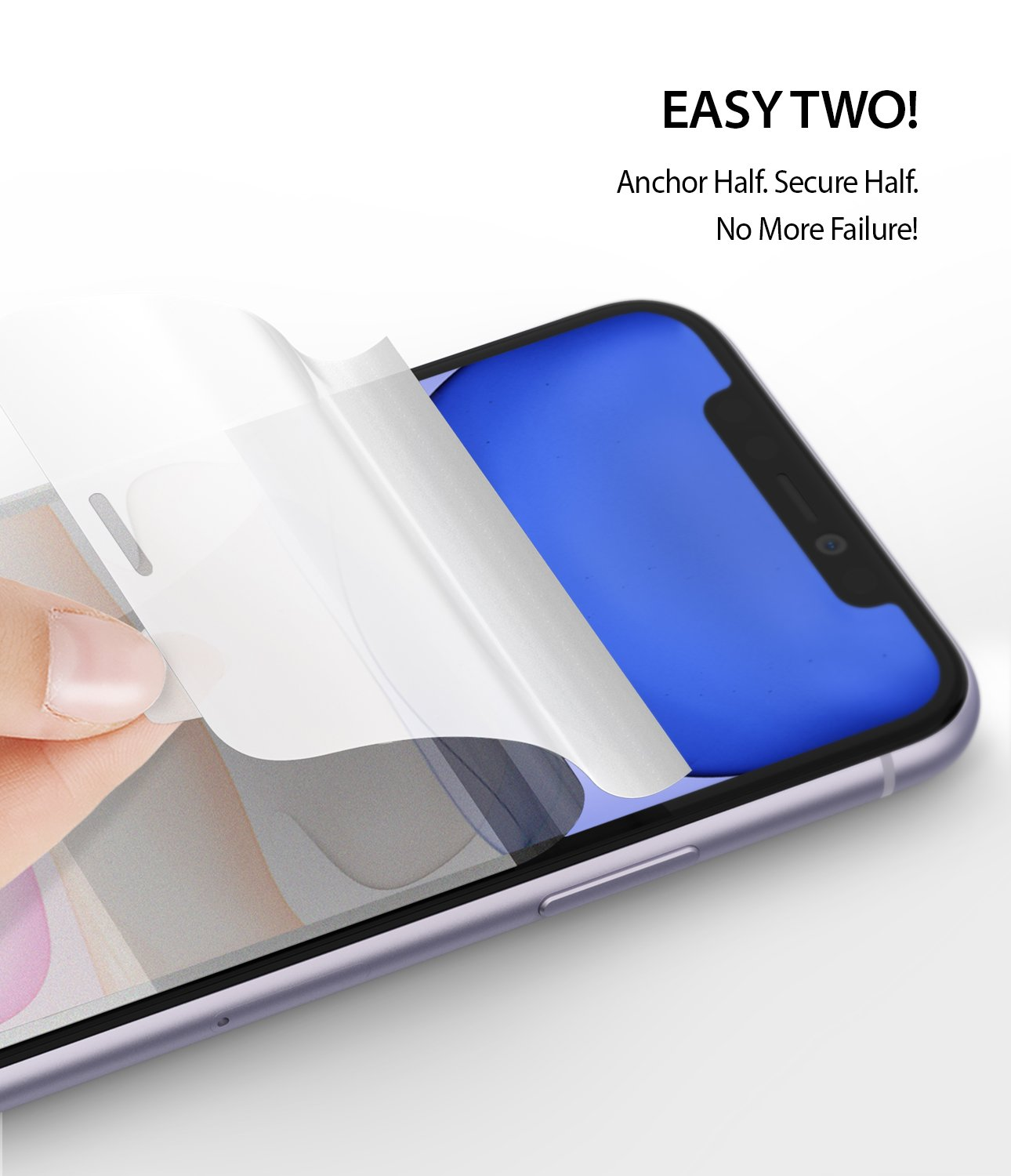 Ringke Dual Easy Film Screen Protector for iPhone 11 Easy Installation Easy Two