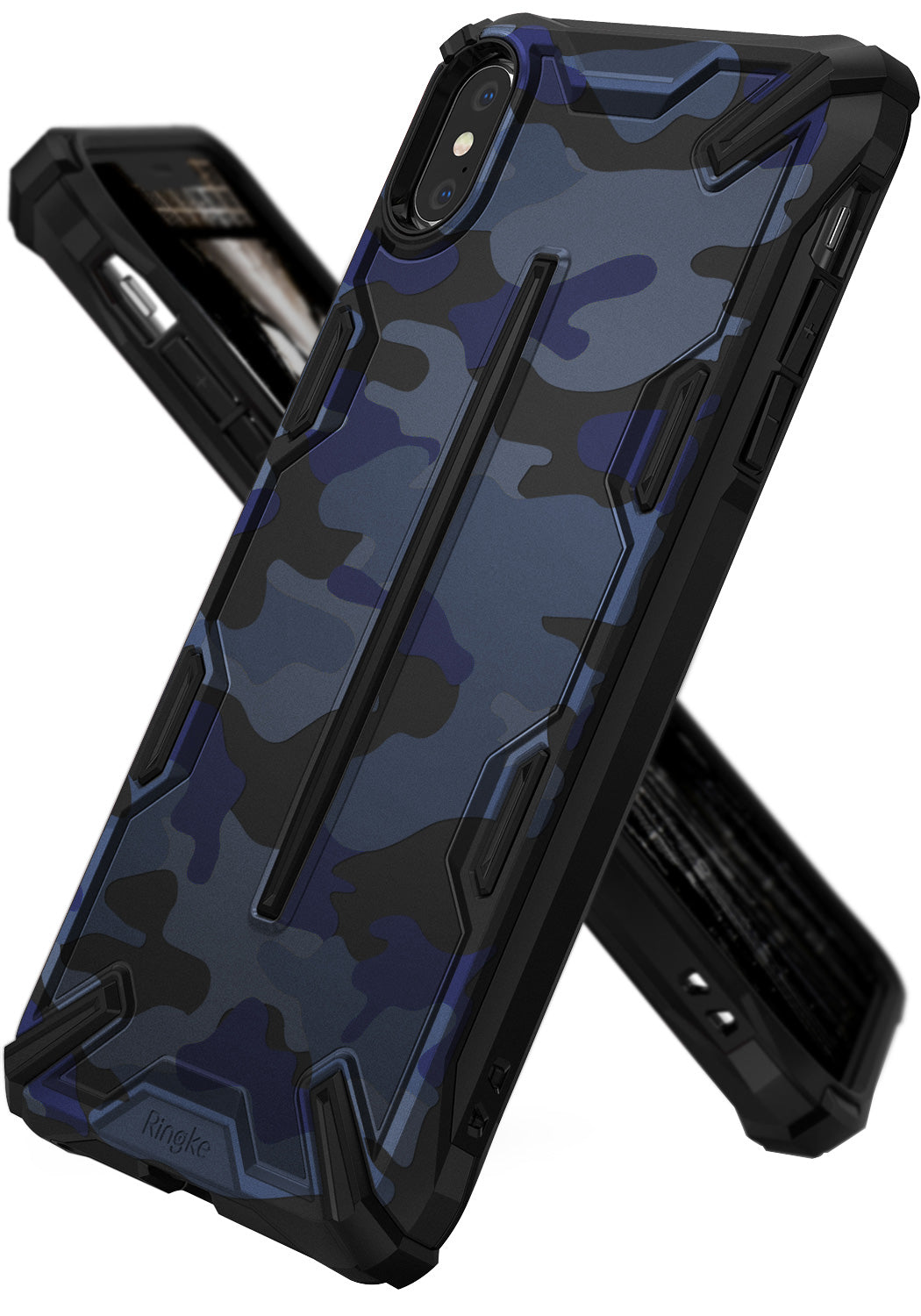 ringke dual-x for iphone xs case cover main camo blue