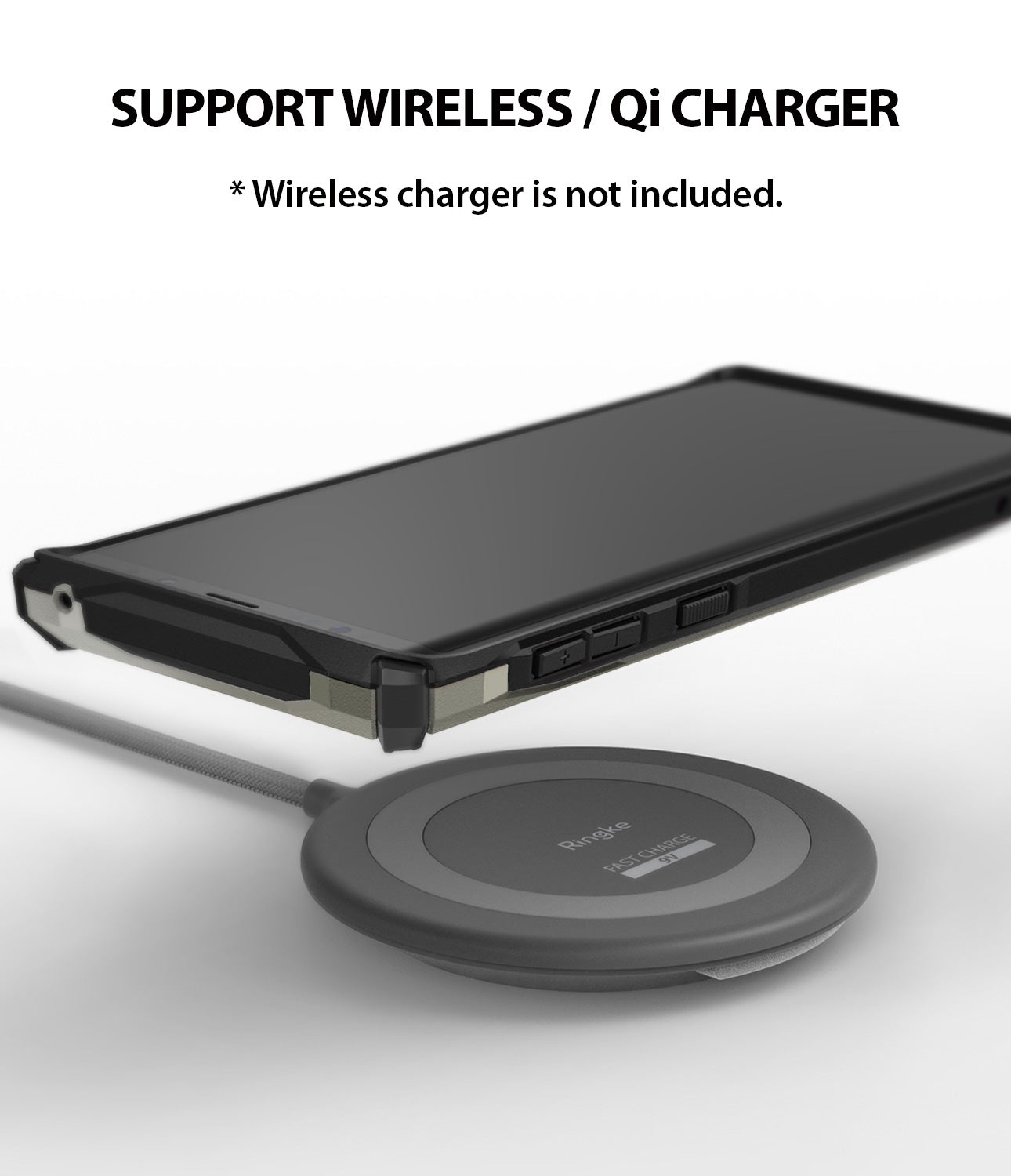support wireless / qi charger