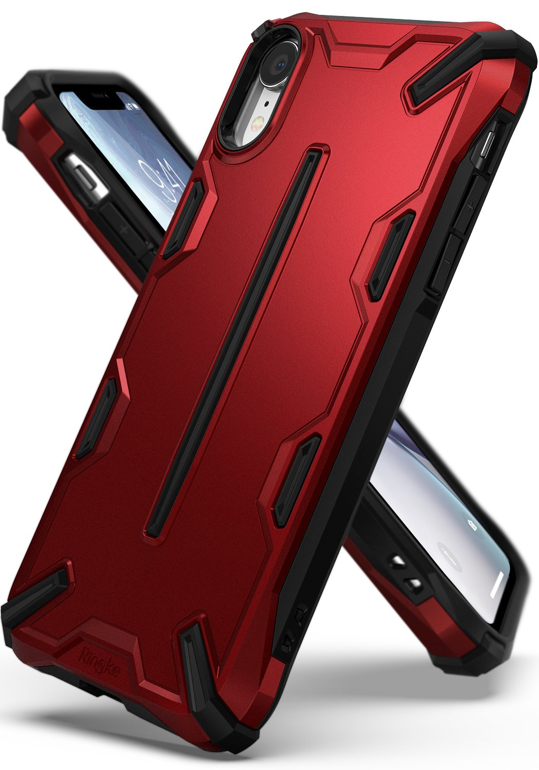 ringke dual-x for iphone xr case cover main iron red