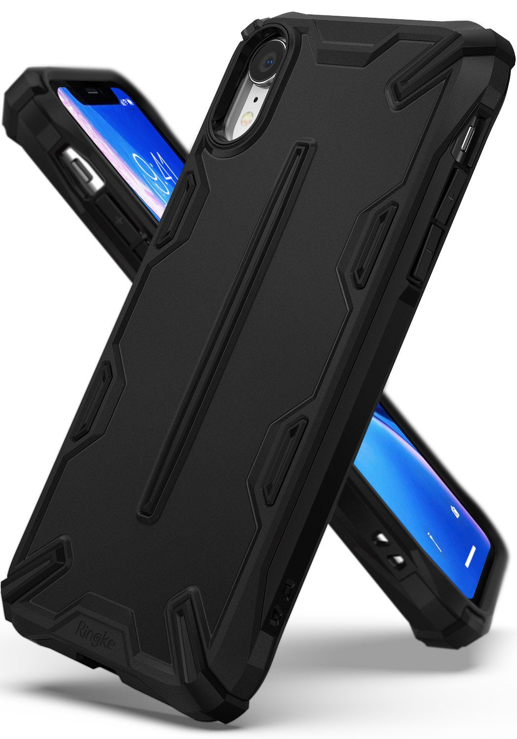 ringke dual-x for iphone xr case cover main sf black