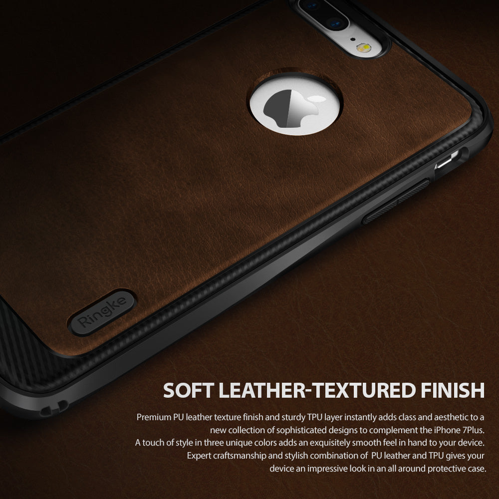 ringke flex s faux leather back case cover for iphone 7 plus 8 plus main back design