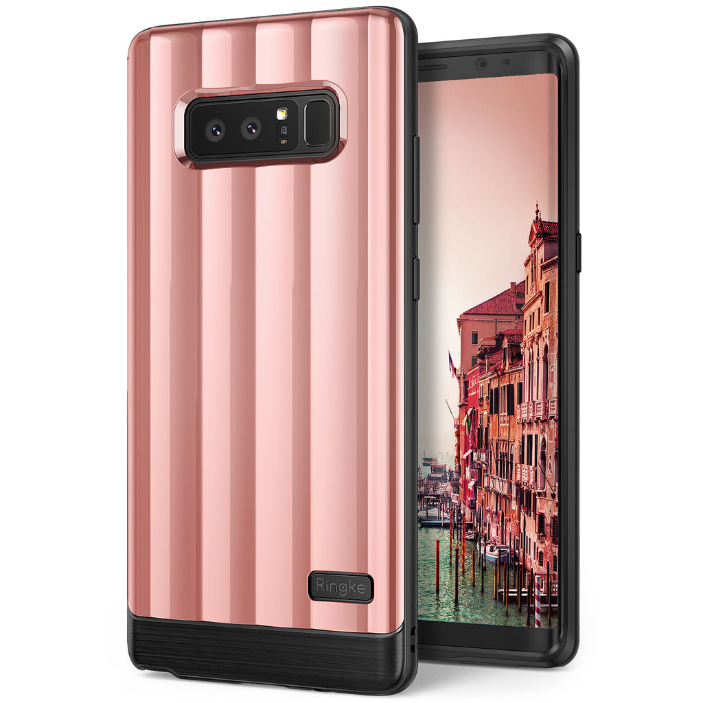 samsung galaxy note 8 ringke flex s pro case rose gold