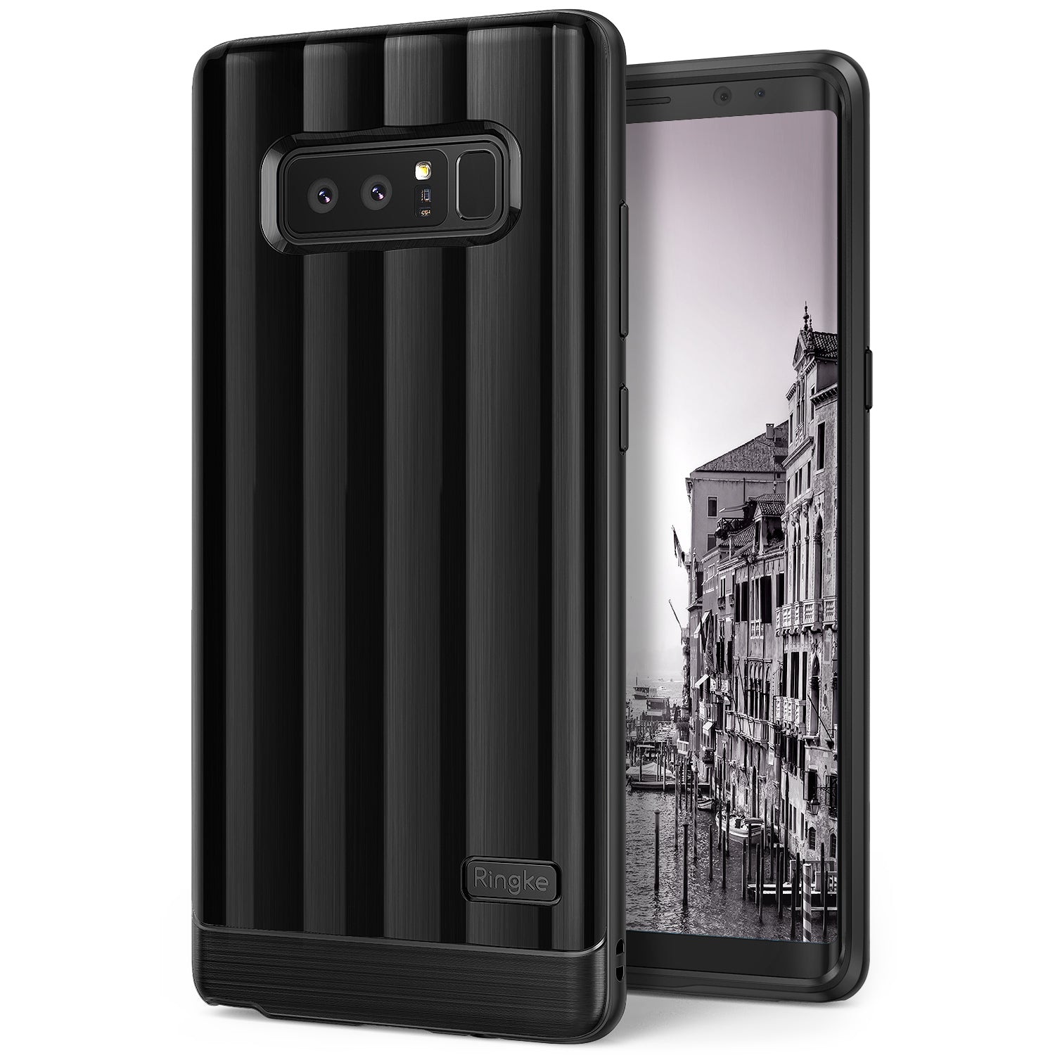 samsung galaxy note 8 ringke flex s pro case titanium black