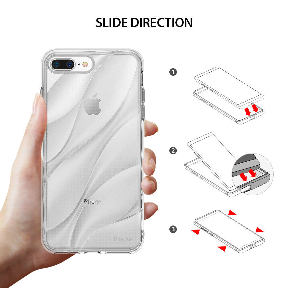 ringke flow streamedline design back case cover for iphone 7 plus 8 plus main slide direction