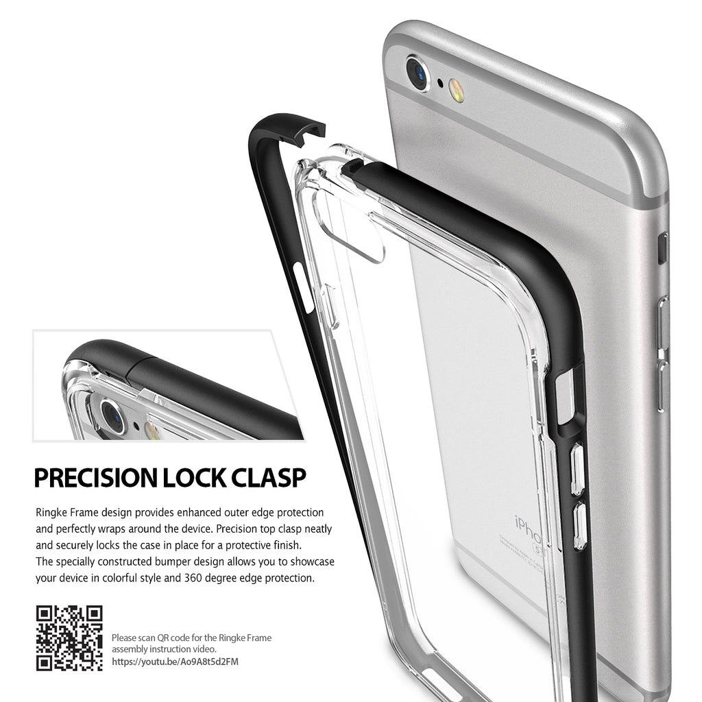 ringke frame bezel side protection case cover for iphone 6 6s main clip