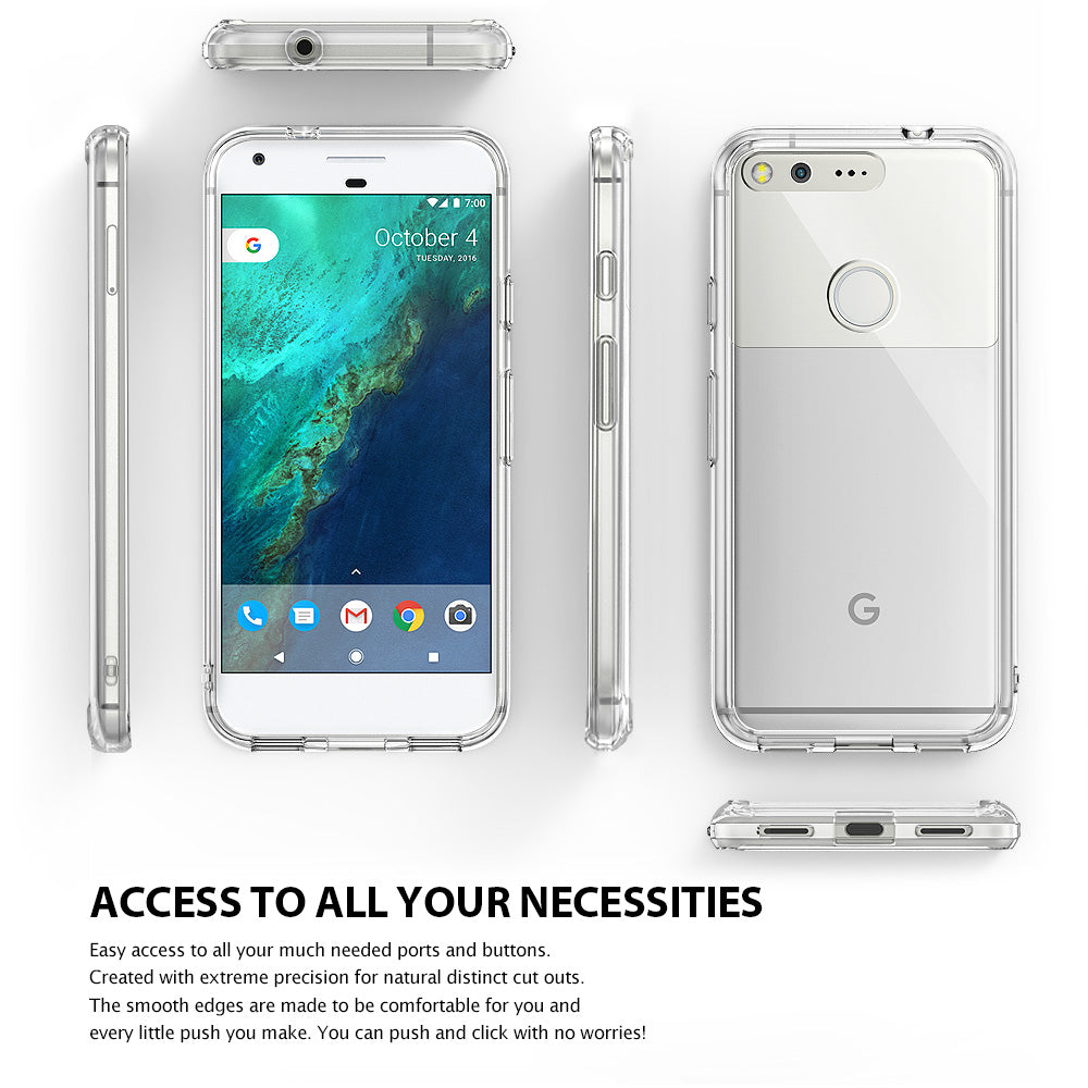 ringke fusion clear transparent hard back case cover for google pixel main 6 sides