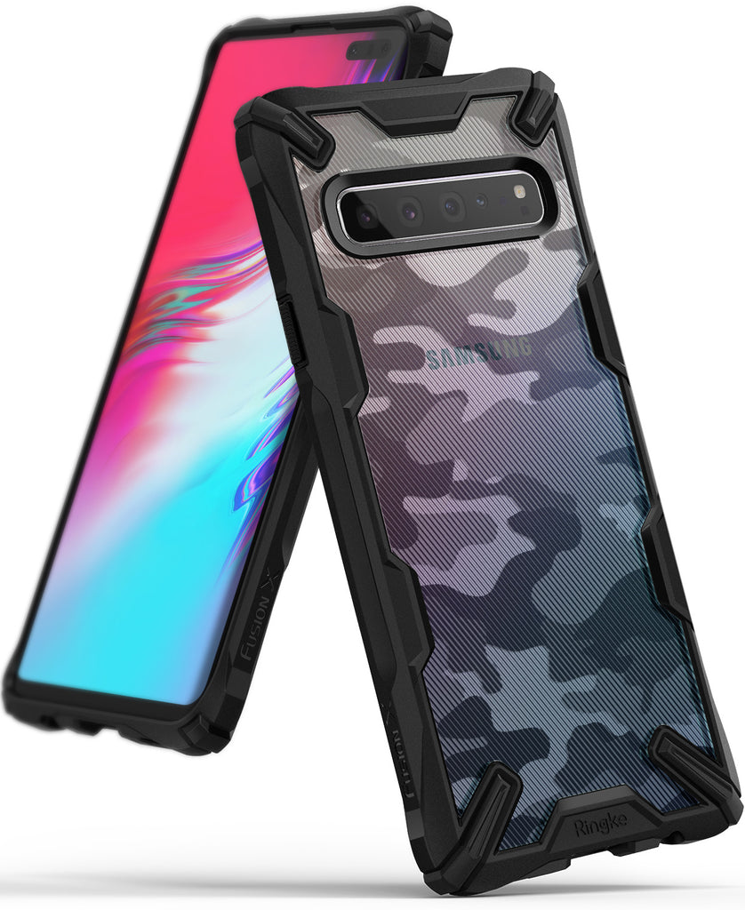 ringke fusion-x for samsung galaxy s10 5g - camo black