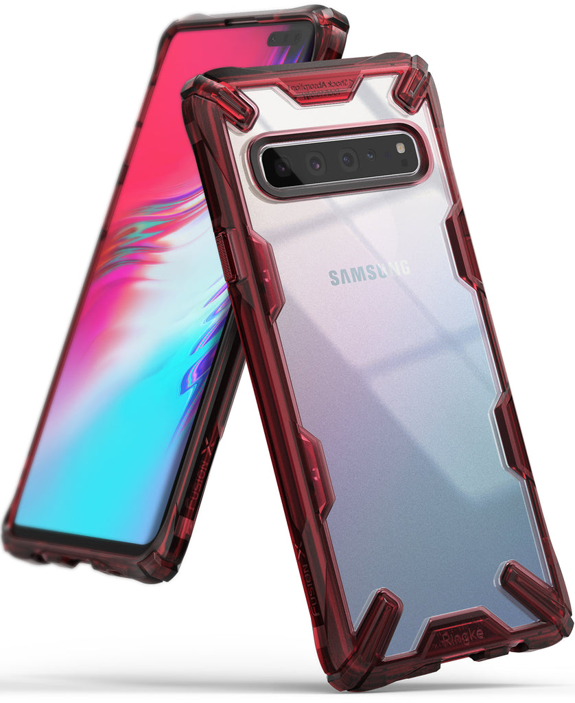 ringke fusion-x for samsung galaxy s10 5g - ruby red