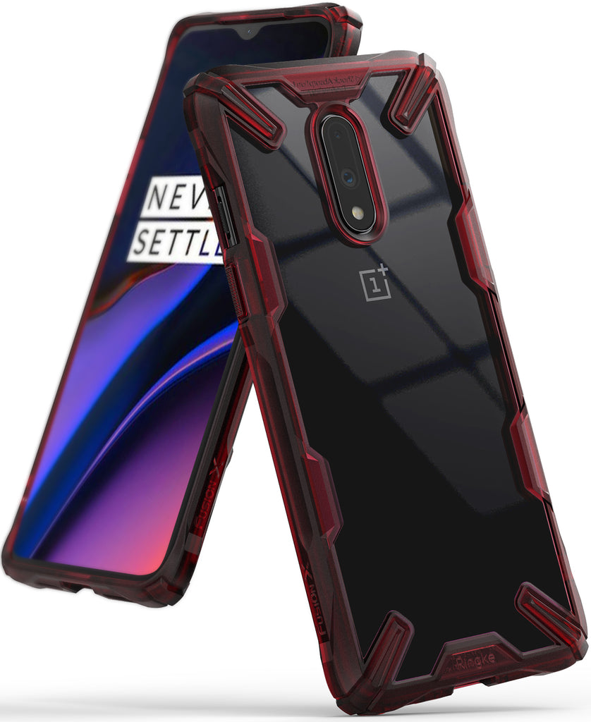 Ringke Fusion-X Designed for OnePlus 7 Ruby Red Case